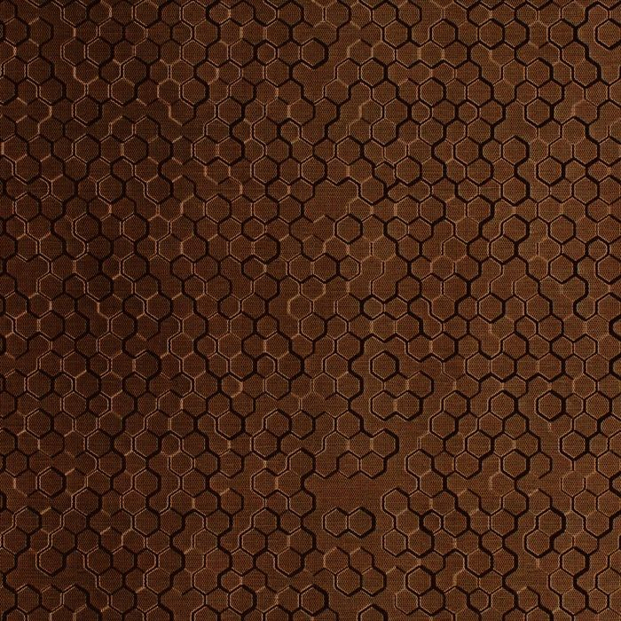 10' Wide x 4' Long Beehive Pattern Linen Chocolate Finish Thermoplastic Flexlam Wall Panel