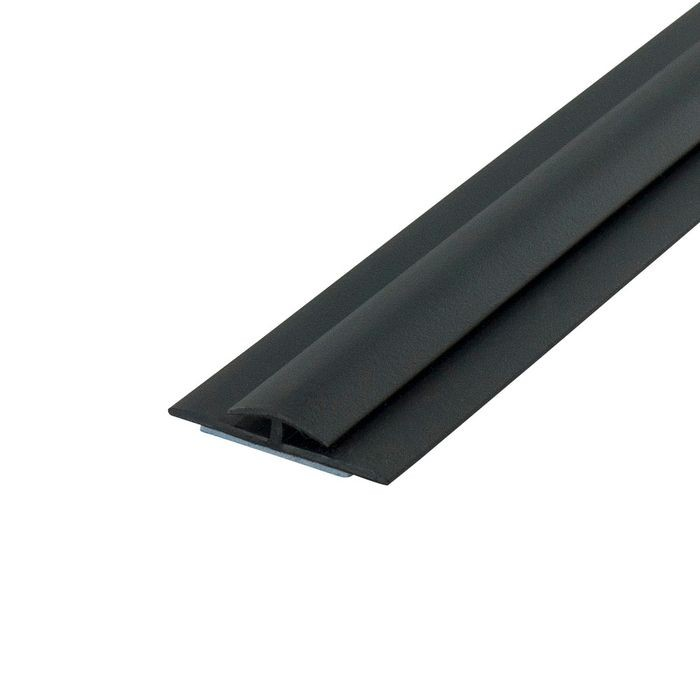 1/16in Black Styrene | Divider Moulding With Adhesive | 8ft Length