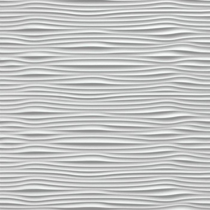 10' Wide x 4' Long Gobi Pattern White Finish Thermoplastic Flexlam Wall Panel