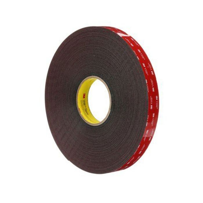 "1/2"" Wide x .045"" Thick Black 3M VHB Acrylic Foam Tape 108' Long Roll"