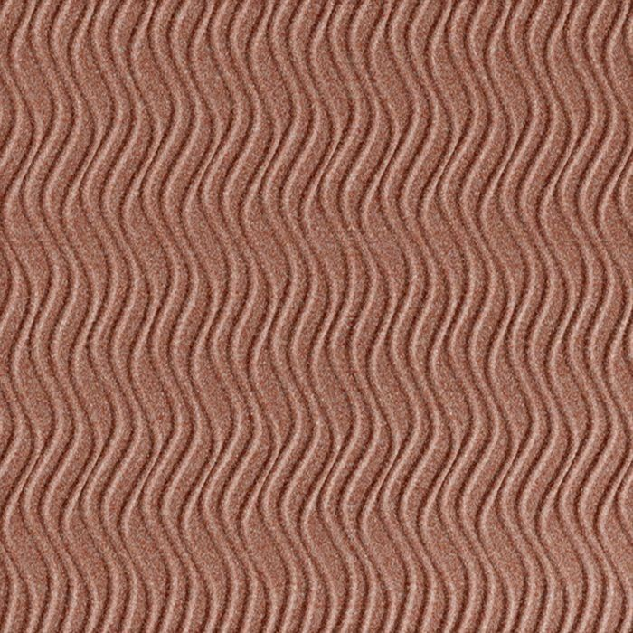 10' Wide x 4' Long Wavation Pattern Argent Copper Vertical Finish Thermoplastic Flexlam Wall Panel