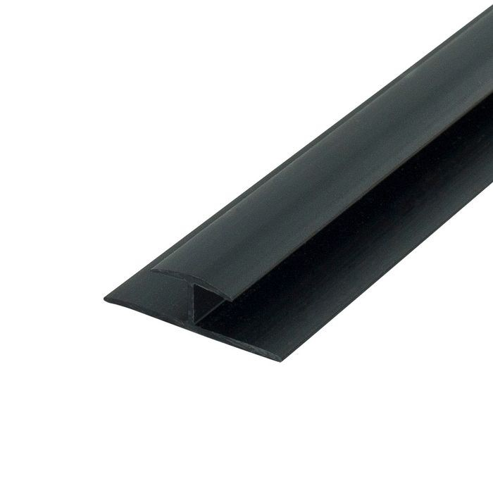 1/4in Black Styrene | Divider Moulding | 8ft Length