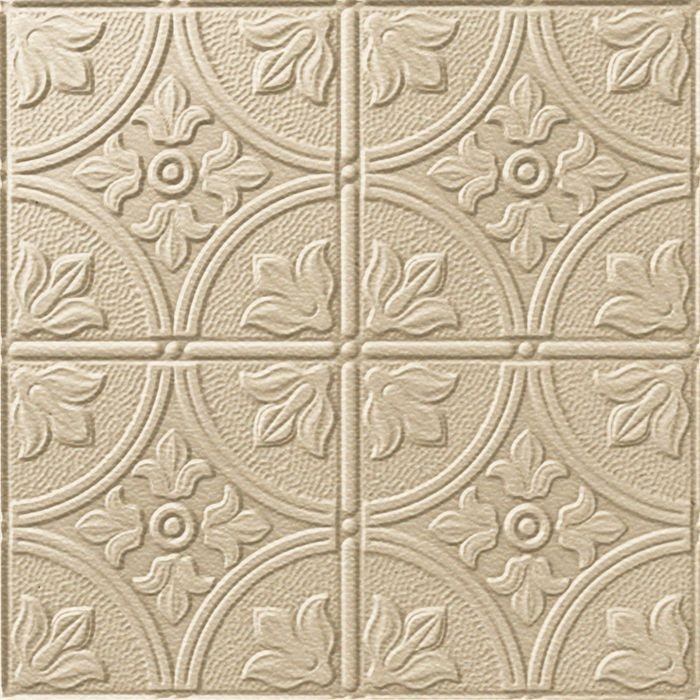 10' Wide x 4' Long Boston Pattern Almond Finish Thermoplastic Flexlam Wall Panel