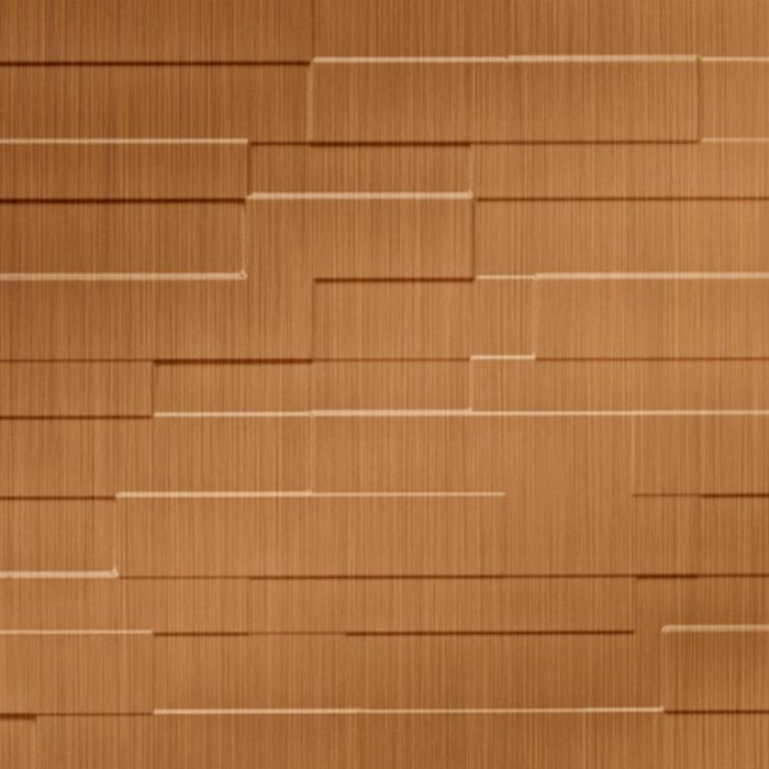 FlexLam 3D Wall Panel | 4ft W x 10ft H | Tetrus Pattern | Brushed Copper Finish