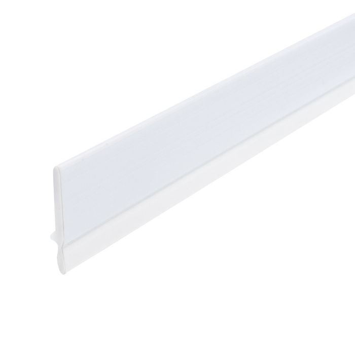 1/2in White Flat Dual Durometer | Dust Seal With Adhesive | 8ft Length