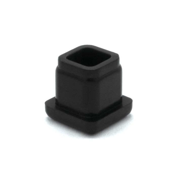 1/2in Sq | 18 Gauge Black Matte Finish ABS | Plastic Inside End Cap for Tubing