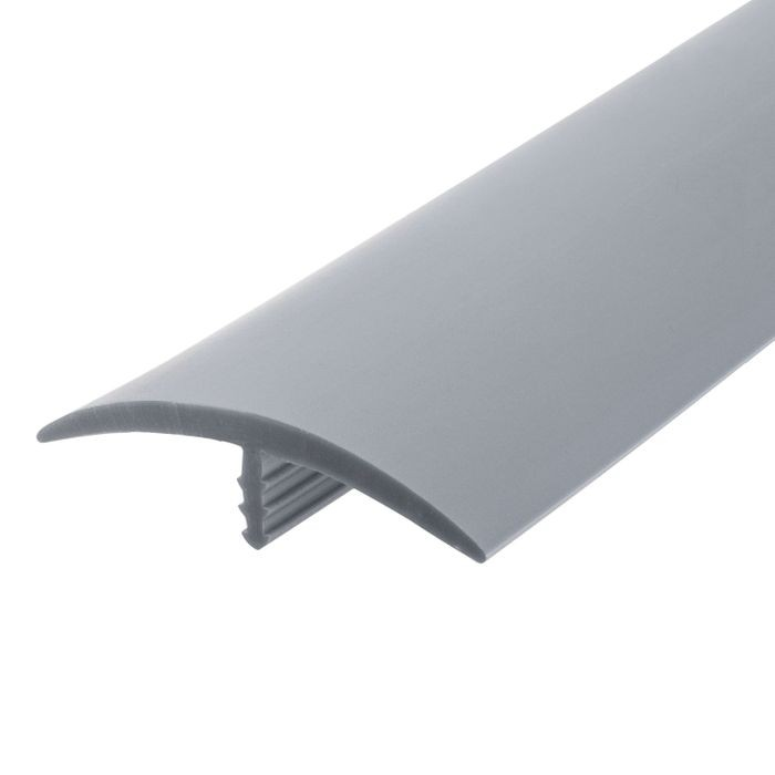 1-1/2in 363 Silver Flexible Polyethylene | Center Barb Tee Moulding | 250ft Coil