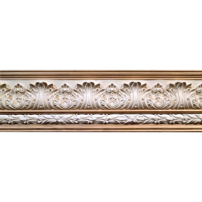 10in H x 1-1/2in Proj | Unfinished Polymer Resin | 480-B Series with Bottom Style 2 | Frieze Moulding | 10ft Long