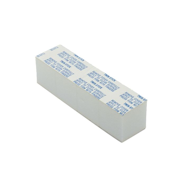 "1"" Square White Removeable Adhesive Tape Block"