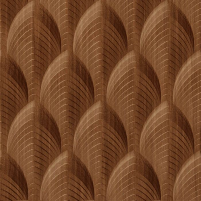 FlexLam 3D Wall Panel | 4ft W x 10ft H | South Beach Pattern | Pearwood Finish