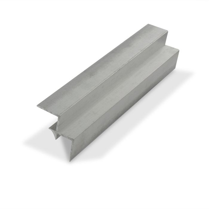 "1/2"" Mechanical Polished Finish Aluminum 90 Degree Inside Corner Channel 12' Length"