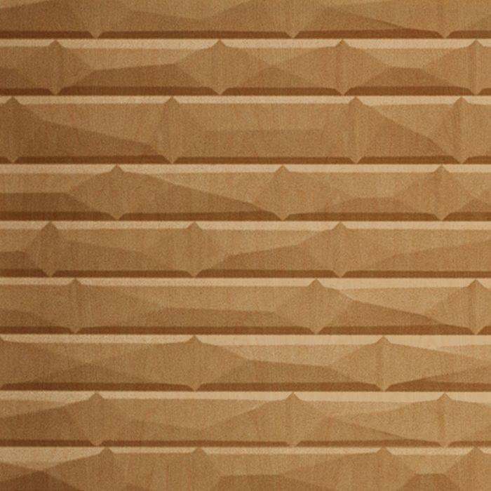 10' Wide x 4' Long Vista Pattern Light Maple Finish Thermoplastic FlexLam Wall Panel