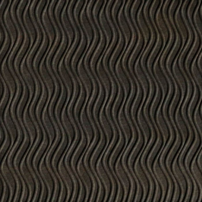 10' Wide x 4' Long Wavation Pattern Smoked Pewter Vertical Finish Thermoplastic Flexlam Wall Panel