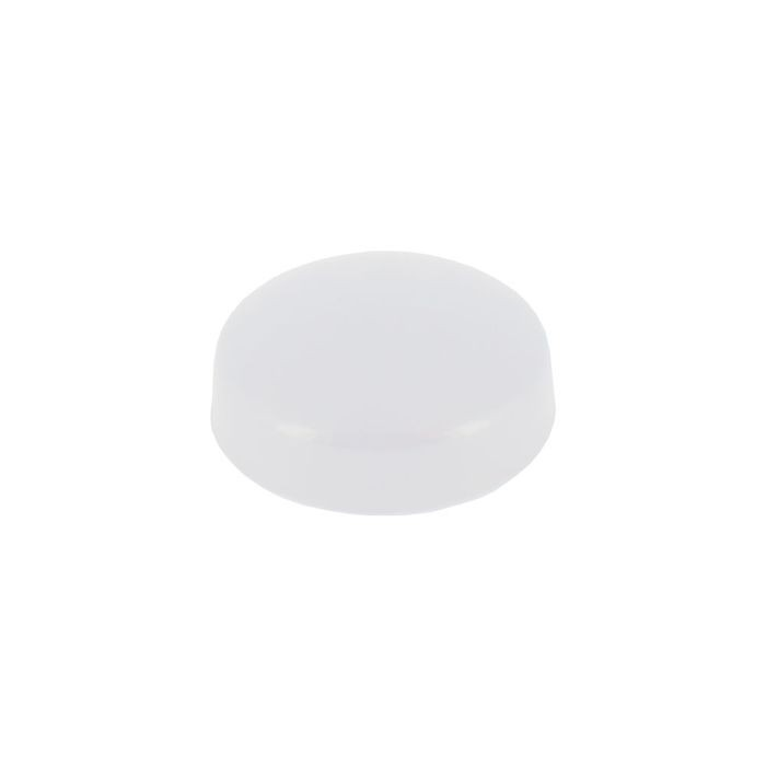 ".630"" Diameter White Polypropylene Pop-On Screw Cover"