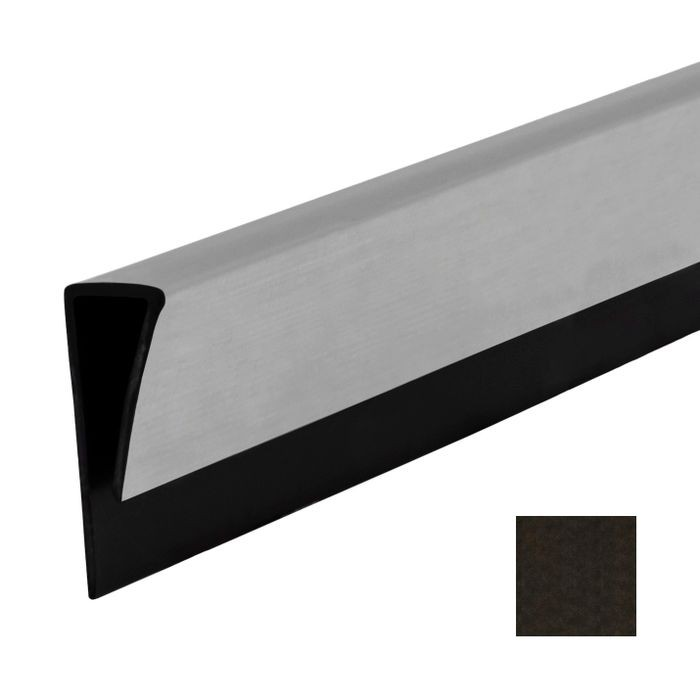 Smoked Pewter Finish J Trim for Flexlam Wall Panels 4' Length