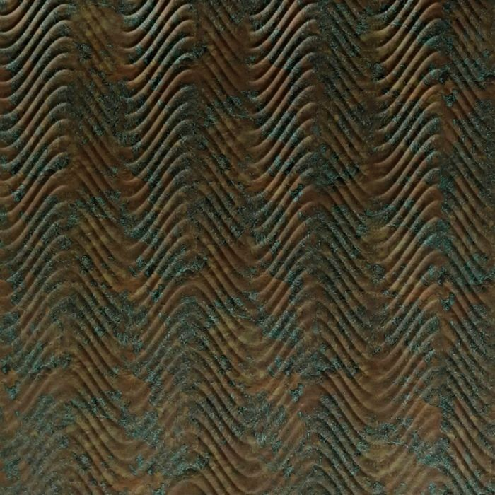 10' Wide x 4' Long Curves Pattern Copper Fantasy Finish Thermoplastic Flexlam Wall Panel