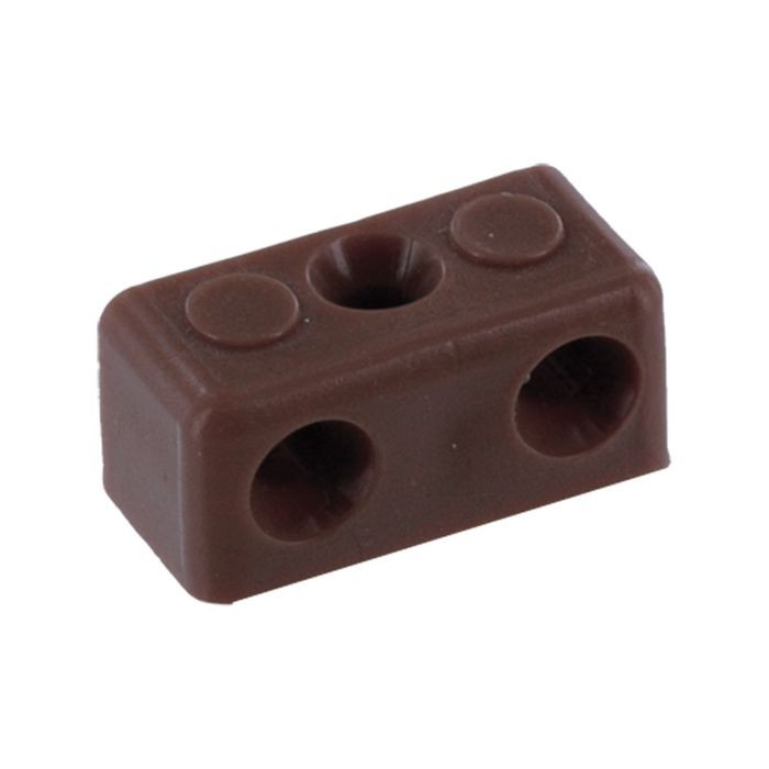 "1/2"" x 1/2"" x 1-3/8"" Brown Polyethylene Modesty Block"