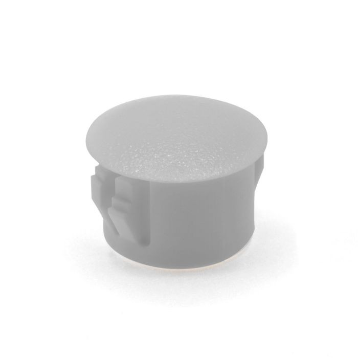 "1/2"" White Nylon Locking Hole Plug"