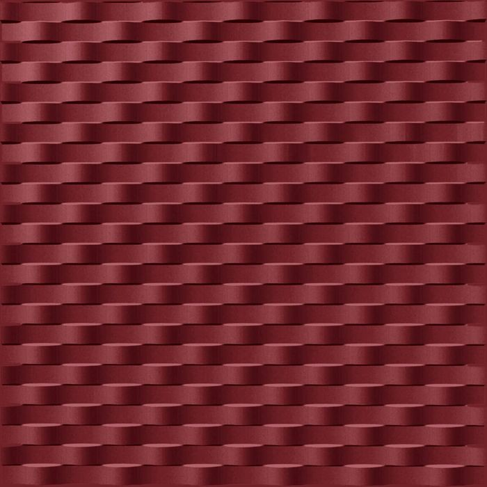 FlexLam 3D Wall Panel | 4ft W x 10ft H | Weave Pattern | Merlot Finish