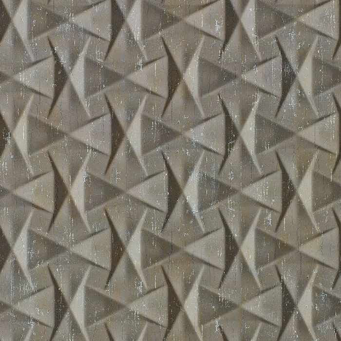 FlexLam 3D Wall Panel | 4ft W x 10ft H | Bowtie Pattern | Vintage Metal Finish