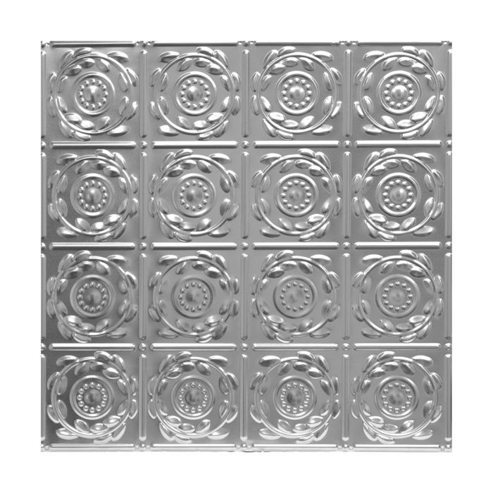 Tin Plated Stamped Steel Ceiling Tile | Lay In | 2ft Sq | Laquer Finish