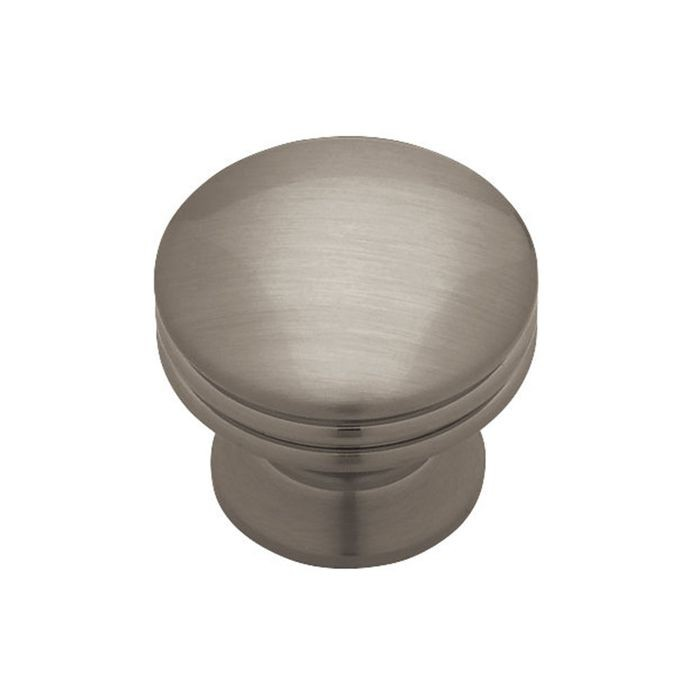 "1.18"" Dia Solid Brass Knob Brushed Nickel Plated (30mm)"