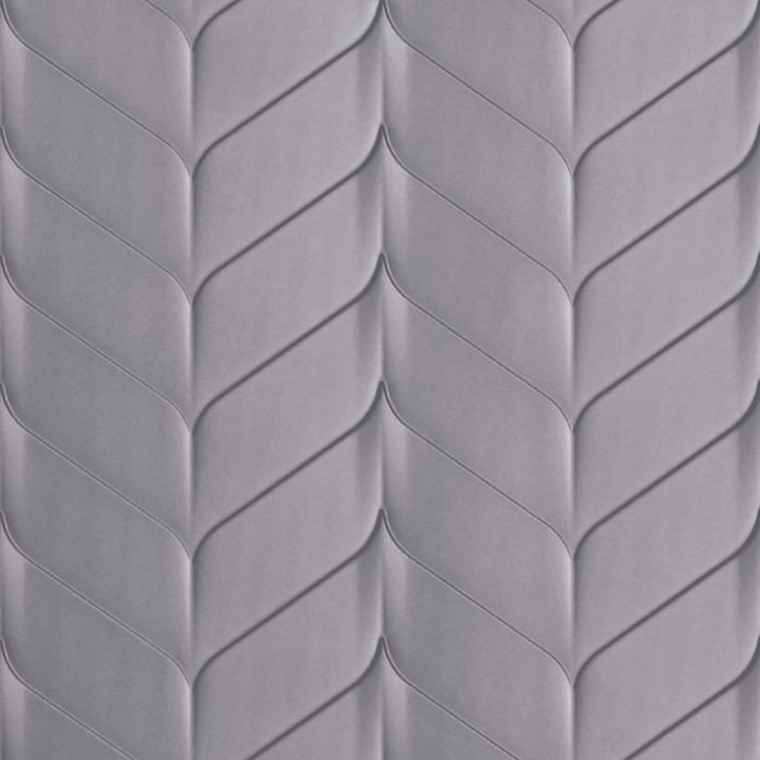 10' Wide x 4' Long Ariel Pattern Lavender Finish Thermoplastic Flexlam Wall Panel