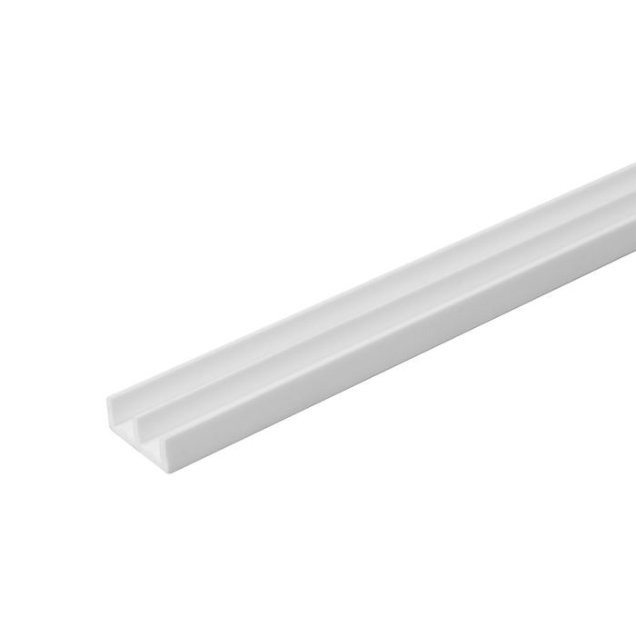 1/4in W | Lower Sliding Door Track | White Color | 12ft Length