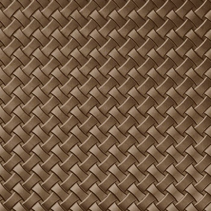 10' Wide x 4' Long Celtic Weave Pattern Argent Bronze Finish Thermoplastic Flexlam Wall Panel