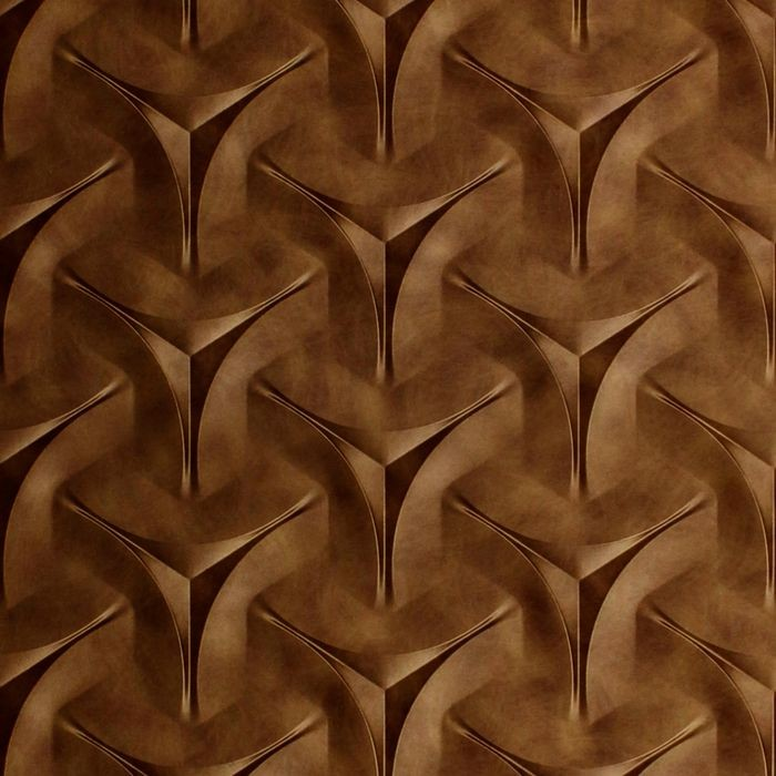 10' Wide x 4' Long Japanease Weave Pattern Antique Bronze Finish Thermoplastic Flexlam Wall Panel