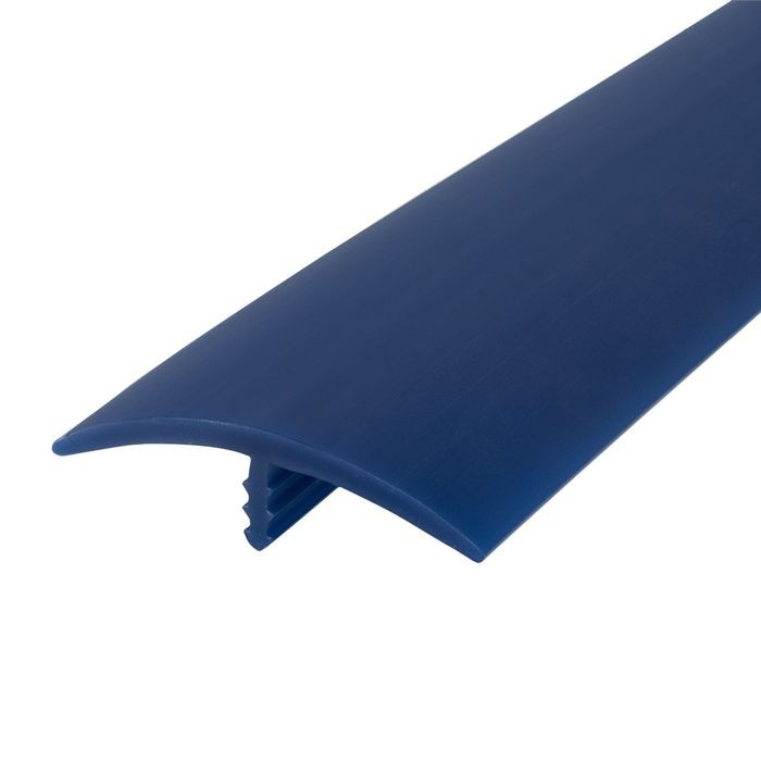 1-1/2in 131 Blue Flexible Polyethylene | Center Barb Tee Moulding | 250ft Coil