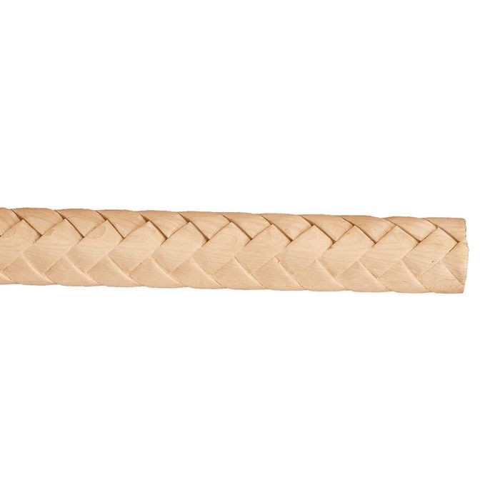 "1-1/8"" Thick x 2-1/2"" Wide x 8' Long Maple Weave Half Round Column"