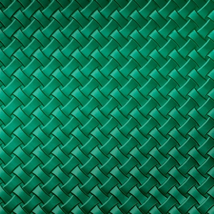10' Wide x 4' Long Celtic Weave Pattern Mirror Green Finish Thermoplastic Flexlam Wall Panel