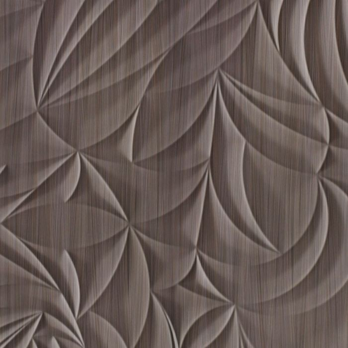 FlexLam 3D Wall Panel | 4ft W x 10ft H | Sculpted Petals Pattern | Bronze Strata Finish