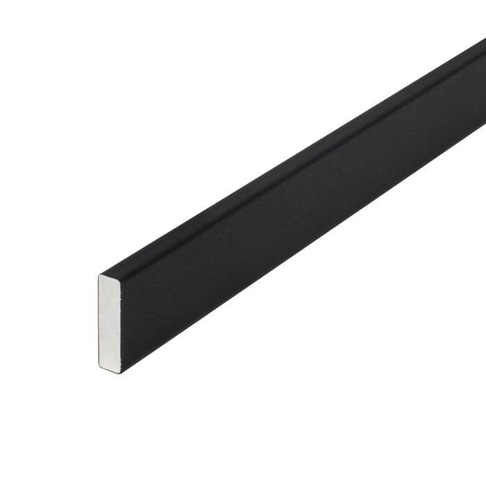 1/2in x 1/8in | Black Aluminum Rectangular | Bar 8ft Length