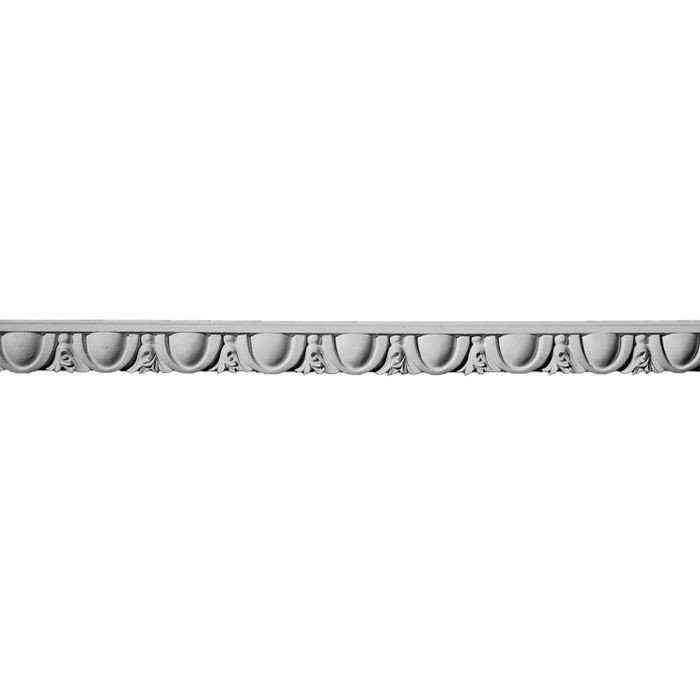 1-1/2in H x 3/4in Proj | Unfinished Polymer Resin Panel Moulding | 10ft Long | Style 51-137VSB