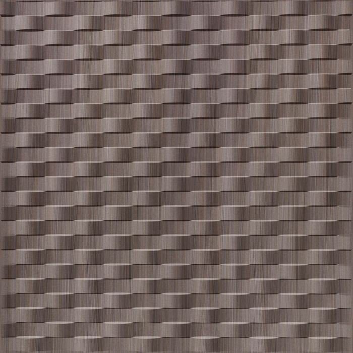 10' Wide x 4' Long Weave Pattern Bronze Strata Finish Thermoplastic Flexlam Wall Panel