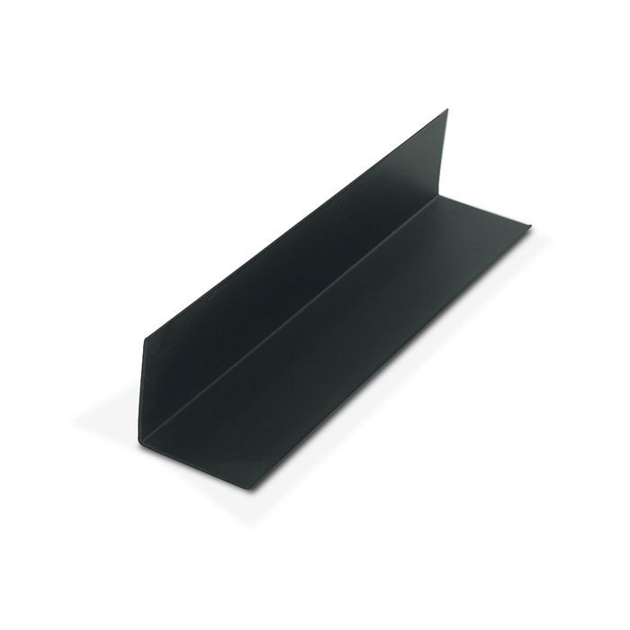 1-1/2in x 1-1/2in x 3/64in (.045in) Thick | Black Styrene Even Leg | 90° Angle Moulding | 12ft Length