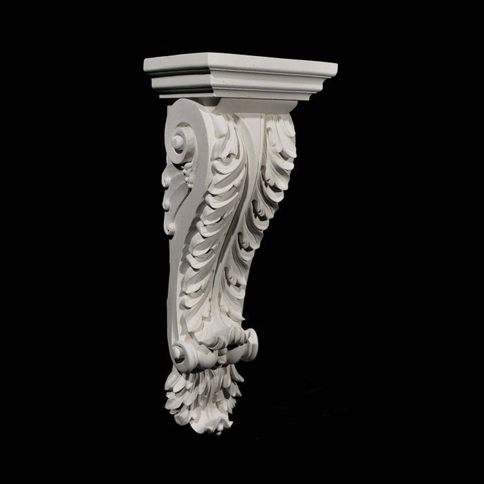 "11"" Wide x 30-1/4"" High Unfinished Polymer Resin Corbel"