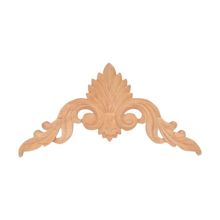 10-7/8in W x 5-1/2in H | Hand Carved | Solid North American Cherry Cartouche Applique | RWC23 Series