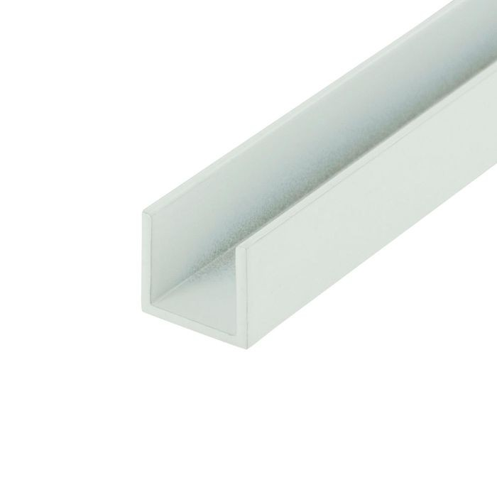 1/2in | White Aluminum U Channel Moulding | 12ft Length