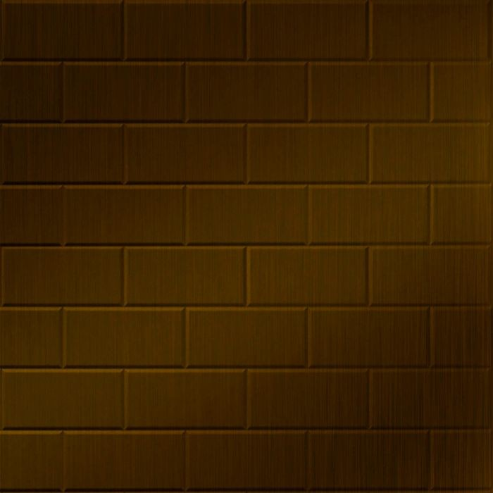 FlexLam 3D Wall Panel | 4ft W x 10ft H | Subway Tile Pattern | Oil Rubbed Bronze Finish