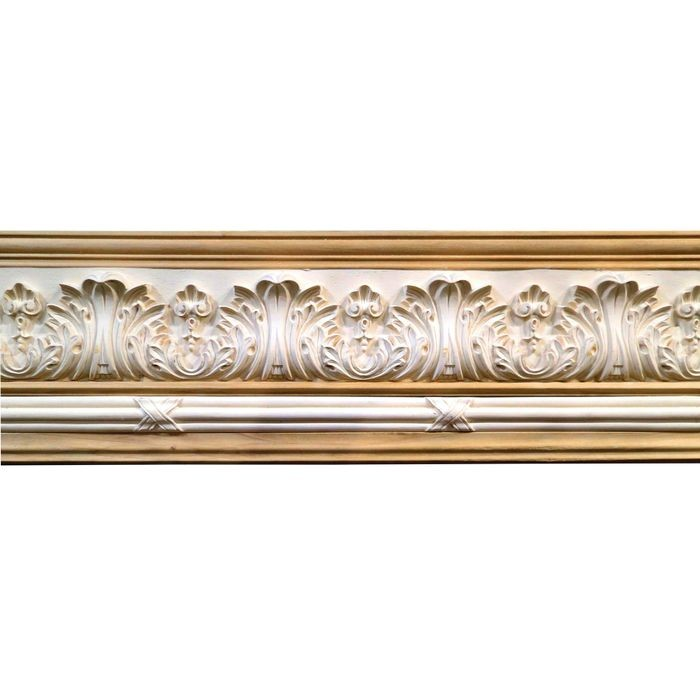 10in H x 1-1/2in Proj | Unfinished Polymer Resin | 480-B Series with Bottom Style 6 | Frieze Moulding | 10ft Long