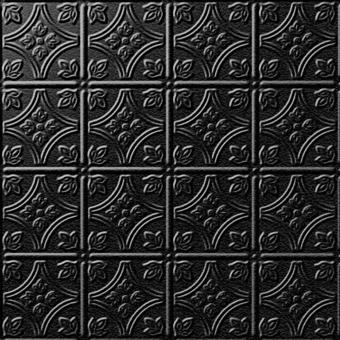 FlexLam 3D Wall Panel | 4ft W x 10ft H | Savannah Pattern | Eccoflex Black Finish