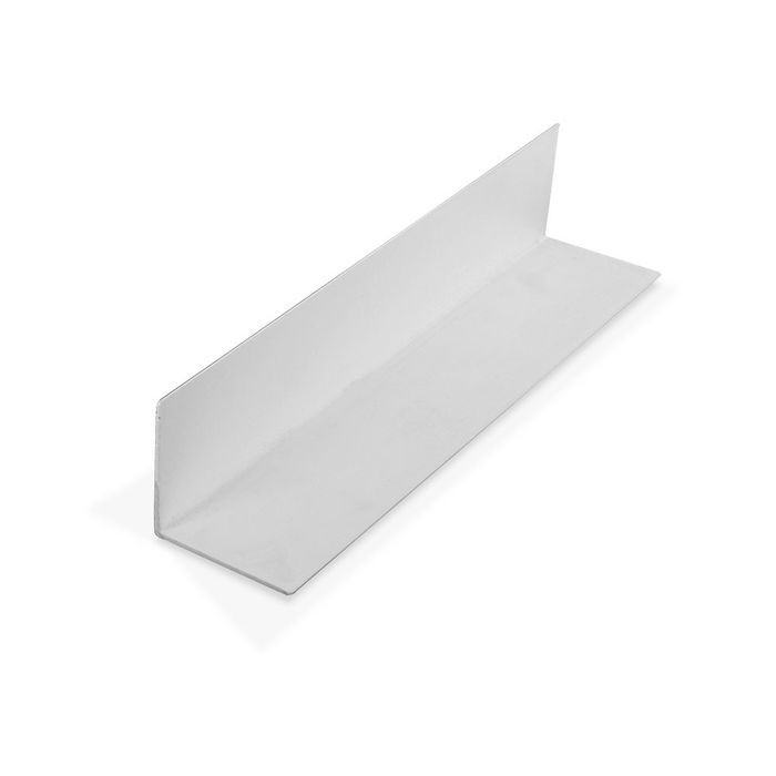 1-1/2in x 1-1/2in x 3/64in (.045in) Thick | White Styrene Even Leg | 90° Angle Moulding | 12ft Length