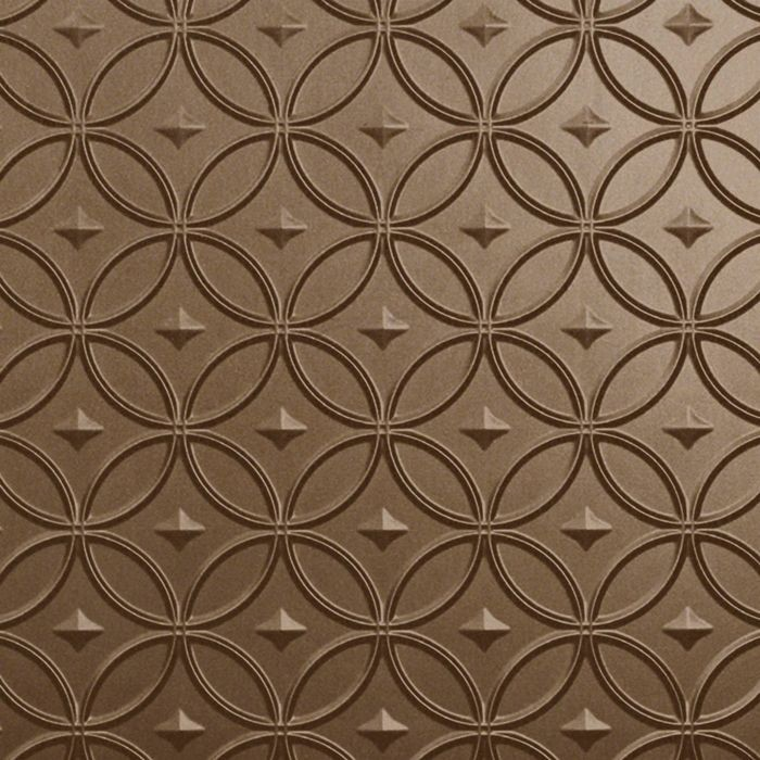 FlexLam 3D Wall Panel | 4ft W x 10ft H | Celestial Pattern | Argent Bronze Finish