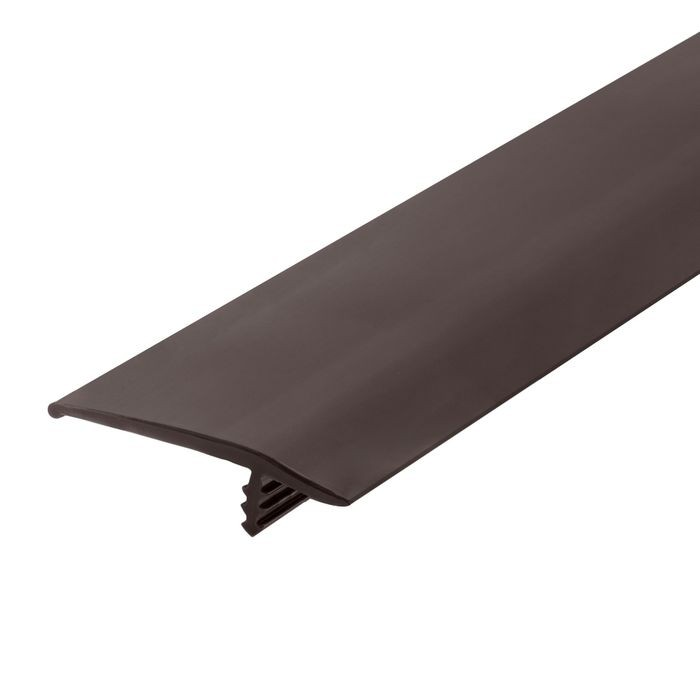 1-1/2in 742 Angola Brown Flexible Polyethylene | OffsetBarb Tee Moulding | 250ft Coil