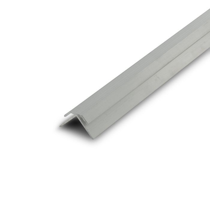 "1/16"" Mill Finish Aluminum 90 Degree Outside Corner Channel 12' Length"