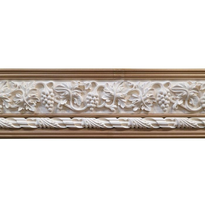 10in H x 1-1/2in Proj | Unfinished Polymer Resin | 480-E Series with Bottom Style 4 | Frieze Moulding | 5ft Long