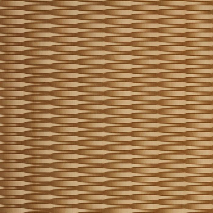 10' Wide x 4' Long Interlink Pattern Light Maple Finish Thermoplastic Flexlam Wall Panel